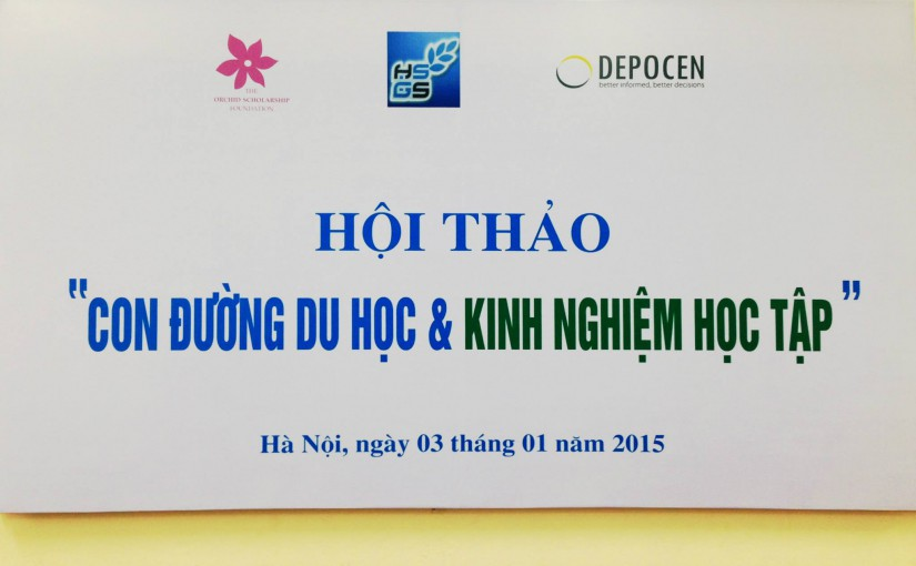 The event was held on 03 January 2015. We thank HUS HSGS, Dr Nguyen Ngoc Anh (DEPOCEN) and Prof Phan Thien Nhan for sponsoring this event.